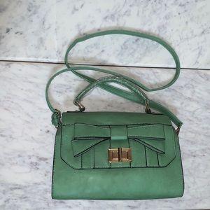 NWOT Melie Green Handbag with a Bow Shoulder Bag